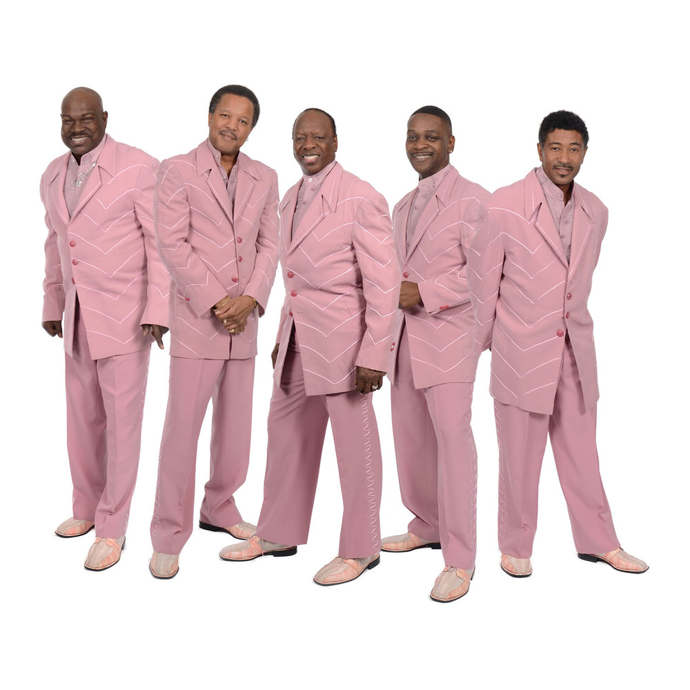 The Spinners from left: Charlton Washington, Marvin Taylor, Henry Fambrough, Jessie Peck, and Ronnie Moss